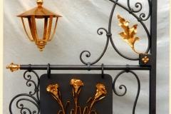 Trattoria Nina 1996 - Montorso (Vicenza) Insegna Bifacciale ferro battuto e bagno oro - Lato A