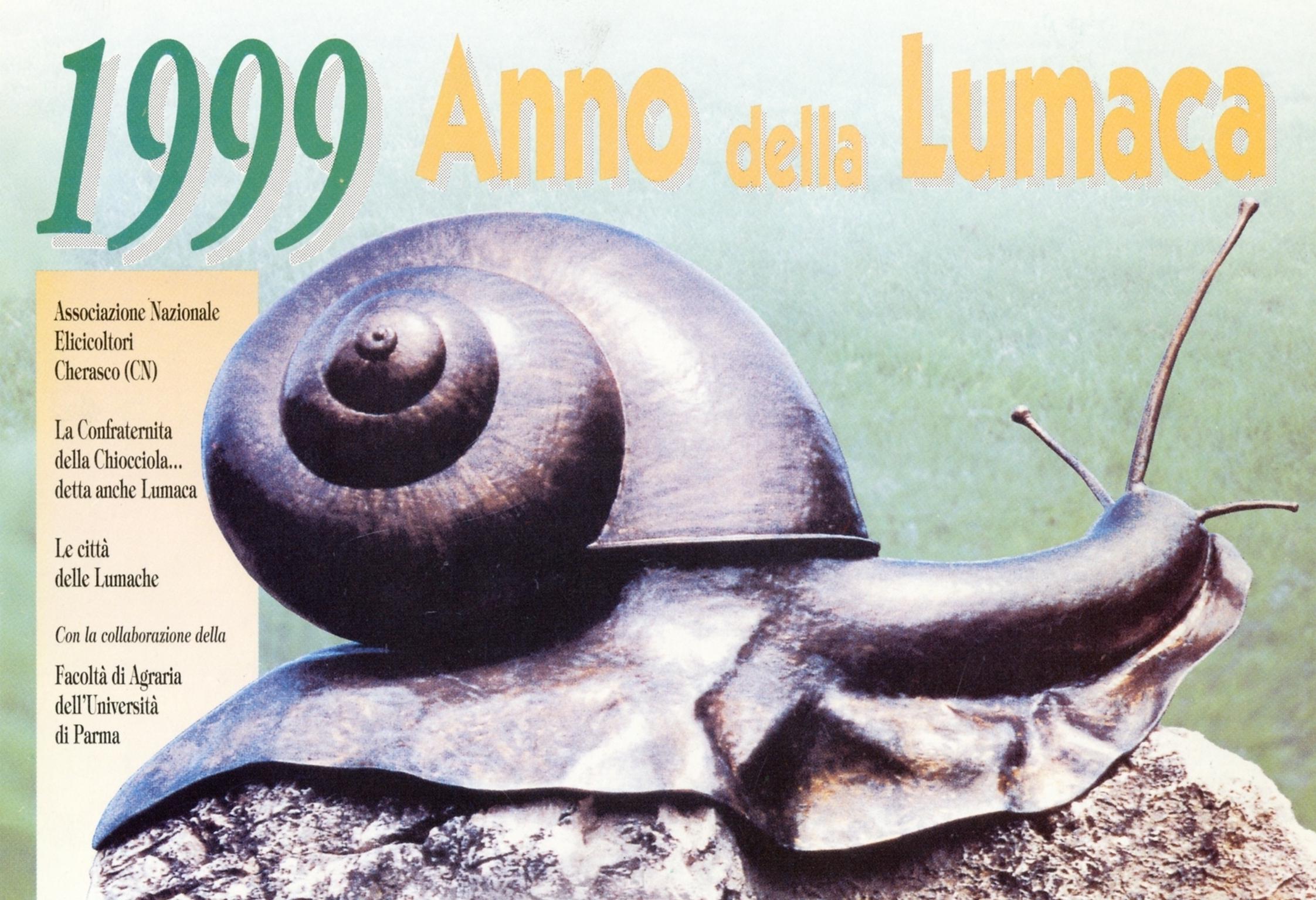 """1999 - Cartolina """"1999 Anno della Lumaca"""""""