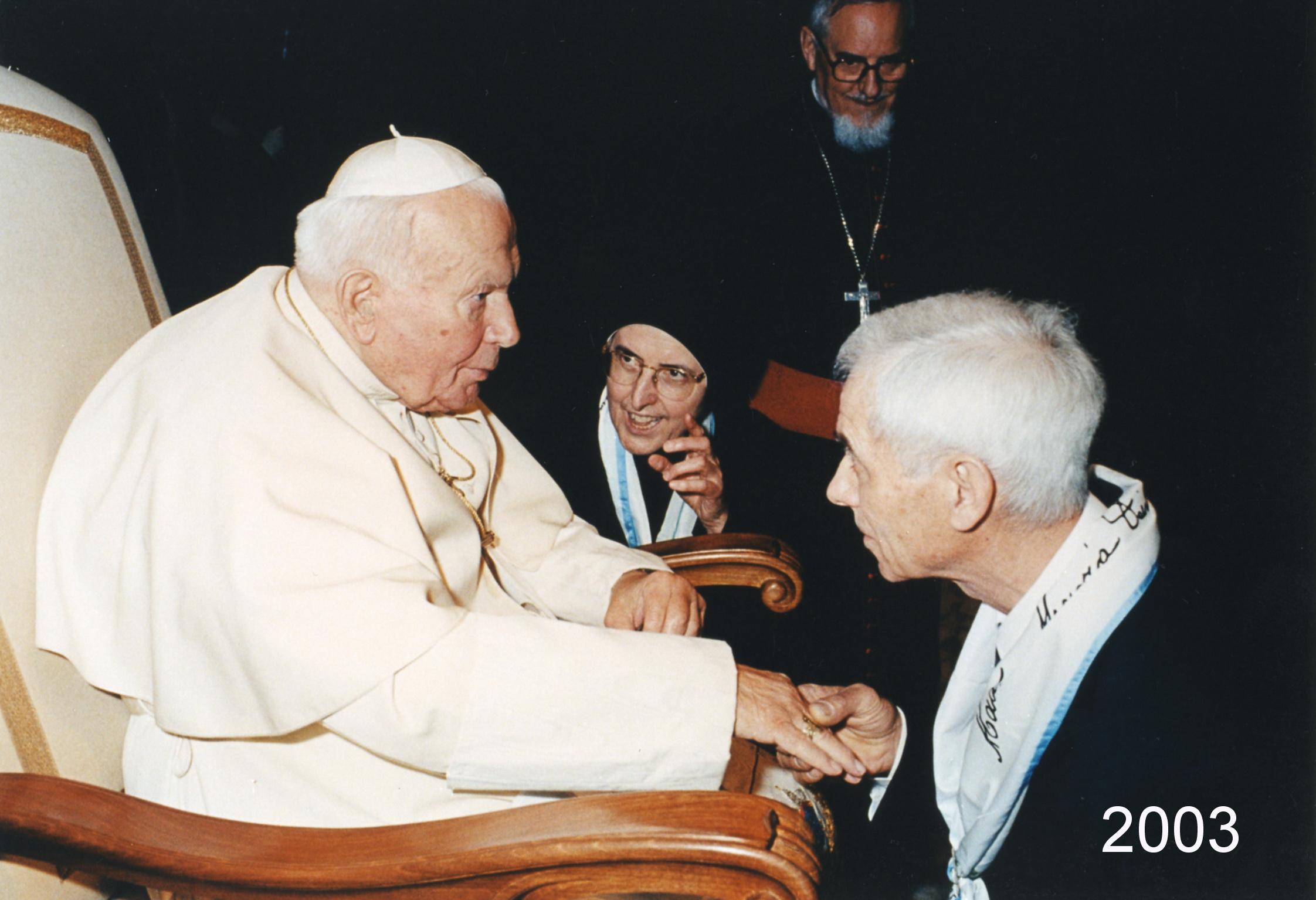 """2003 - """"Baciamano"""", Papa Giovanni Paolo II - Roma ,Vaticano"""