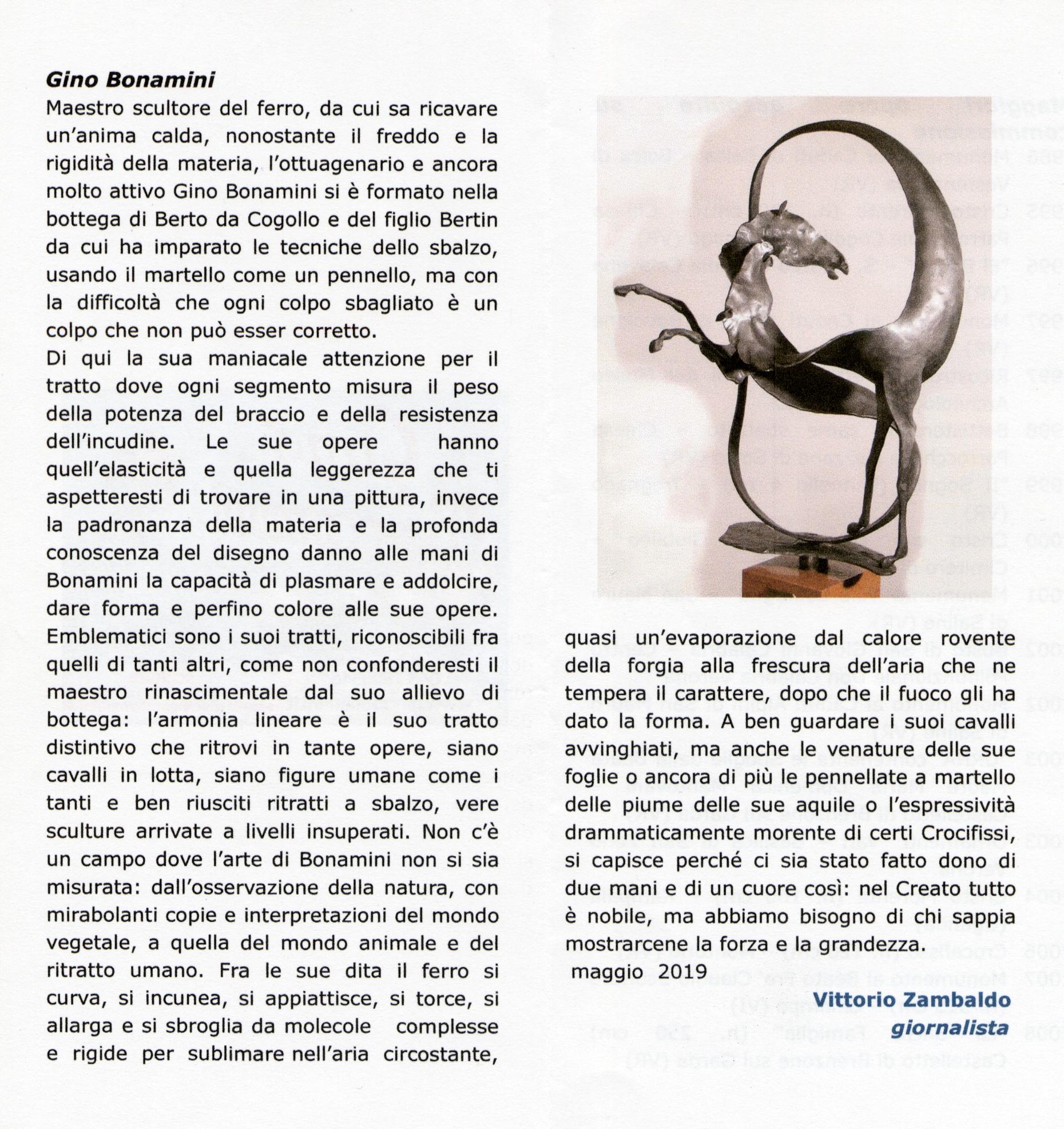 Scritto da Vittorio Zambaldo giornalista - maggio 2019