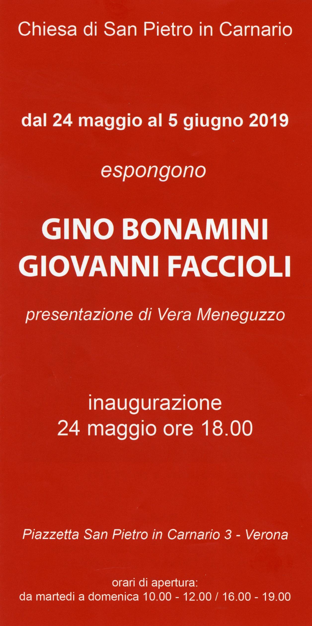 2019 - Invito mostra personale - Verona presentazione Vera Meneguzzo